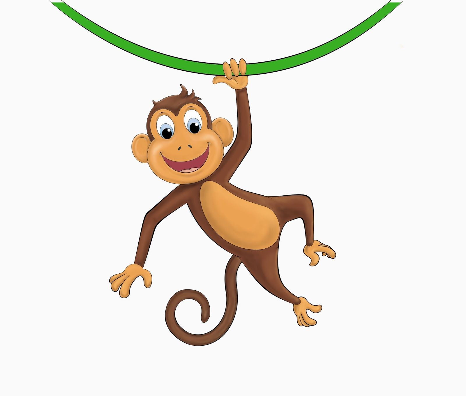 Free monkey clipart cartoon png freeuse download Hanging Monkey Template Clipart Panda Free Clipart Images | Art ... png freeuse download