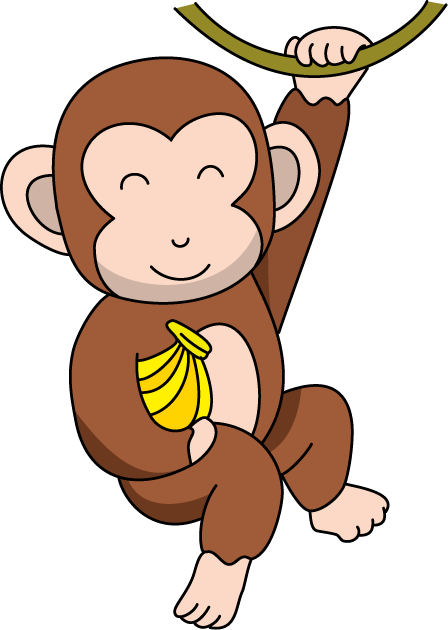 Monkey clipart vector black and white Free Monkey Cliparts, Download Free Clip Art, Free Clip Art on ... vector black and white