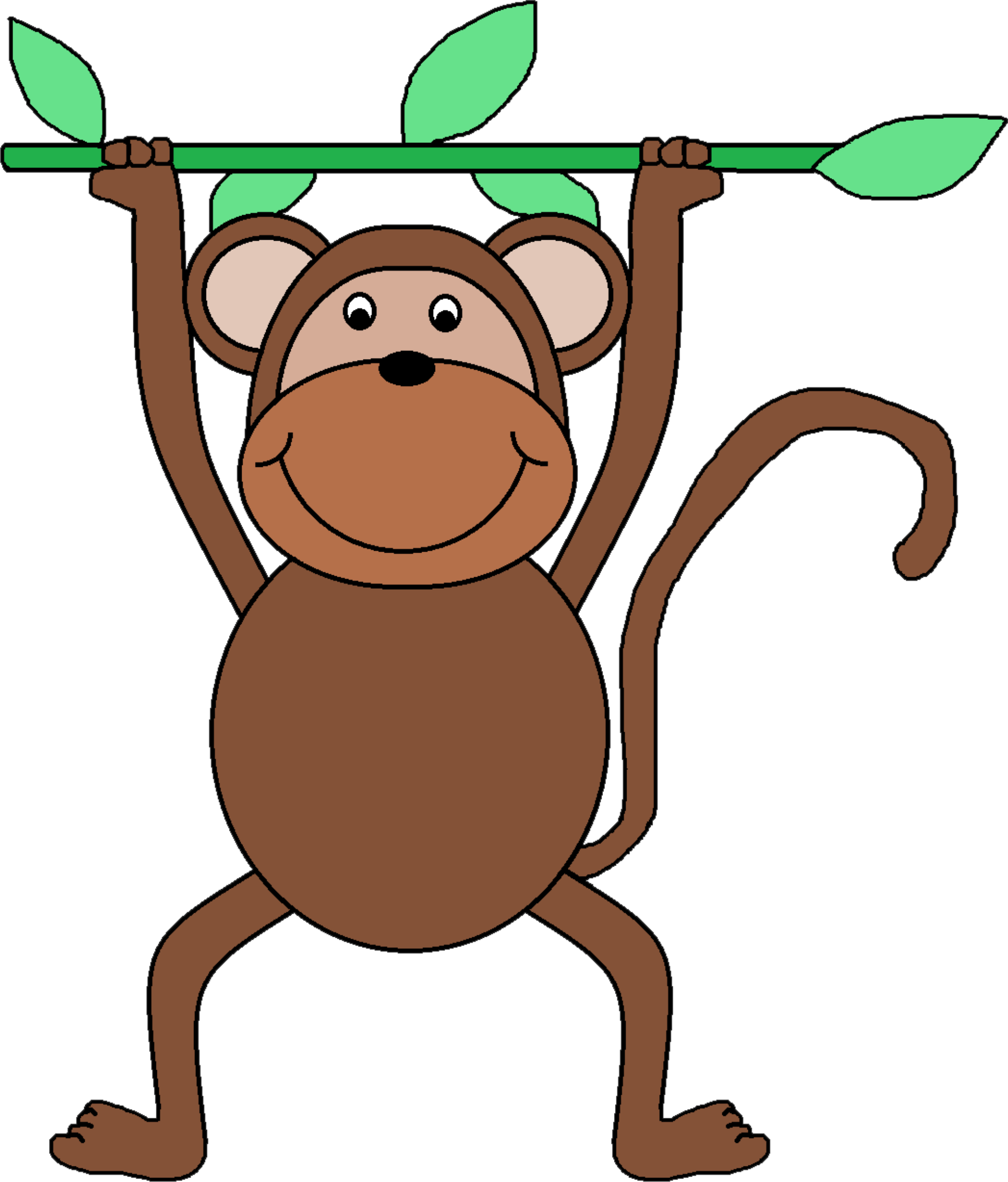Monkey in tree clipart banner free Monkey Clipart at GetDrawings.com | Free for personal use Monkey ... banner free