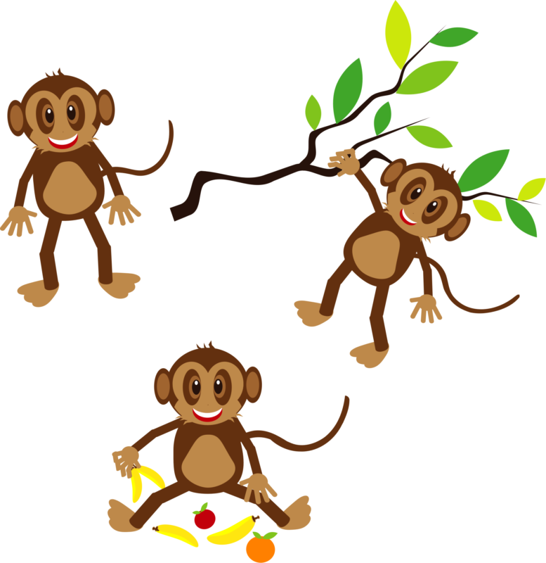 Monkey with a crown clipart svg library 80+ Free Monkey Clipart Black And White Images 【2018】 svg library