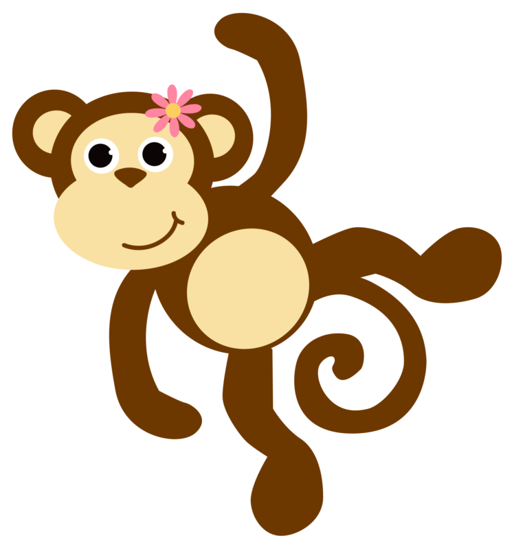 Monkey in tree clipart graphic freeuse download 80+ Free Monkey Clipart Black And White Images 【2018】 graphic freeuse download