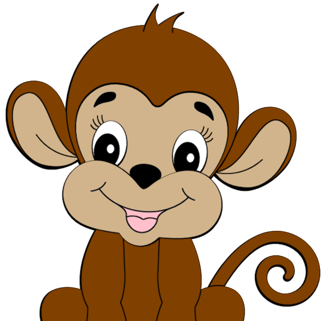 Jungle money clipart banner black and white monkey clipart cute monkey clipart is credited to colorful cliparts ... banner black and white