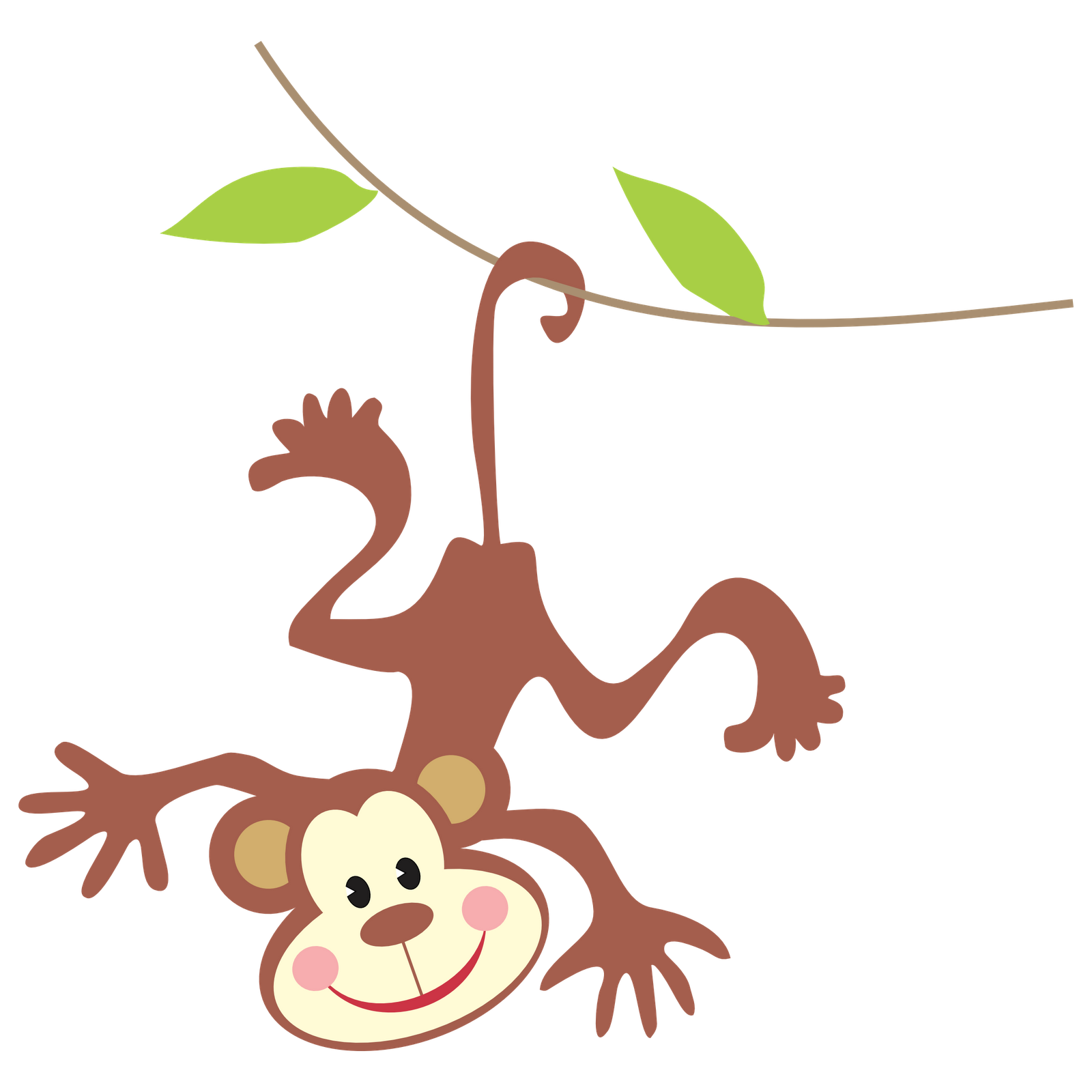 Monkey in tree clipart png transparent stock 28+ Collection of Hanging Monkey Clipart | High quality, free ... png transparent stock