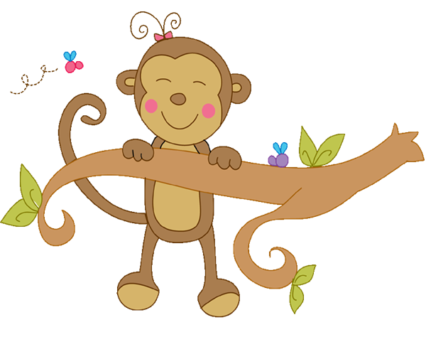 Monkey in tree clipart jpg library library 28+ Collection of Girl Monkey In A Tree Clipart | High quality, free ... jpg library library