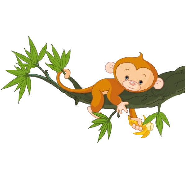 Monkey in tree clipart graphic transparent download Cute Funny Cartoon Baby Monkey Clip Art Images. All Monkey Cartoon ... graphic transparent download