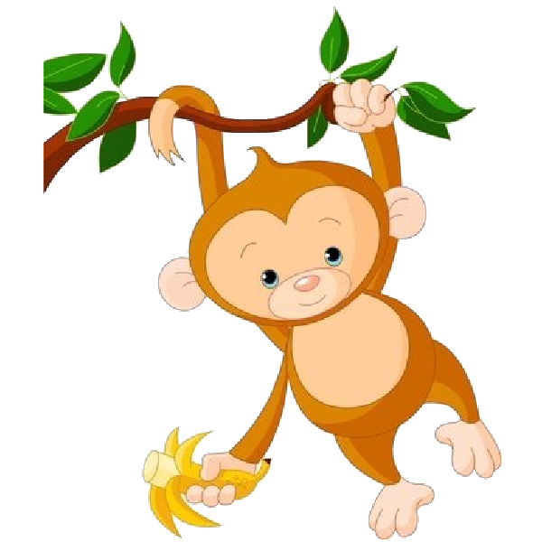 Monkey in tree clipart banner free download Cute Funny Cartoon Baby Monkey Clip Art Images. All Monkey Cartoon ... banner free download