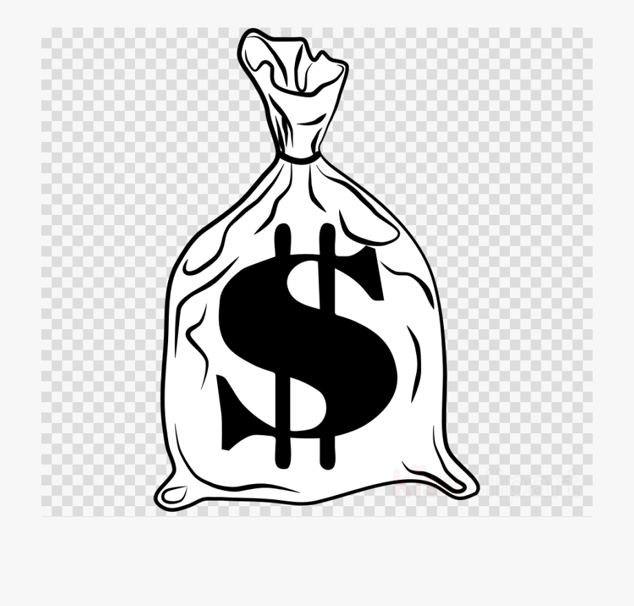 Clipart monneybag jpg royalty free download Money Bag Clipart White - Clip Art Money Bags #285152 - Free ... jpg royalty free download