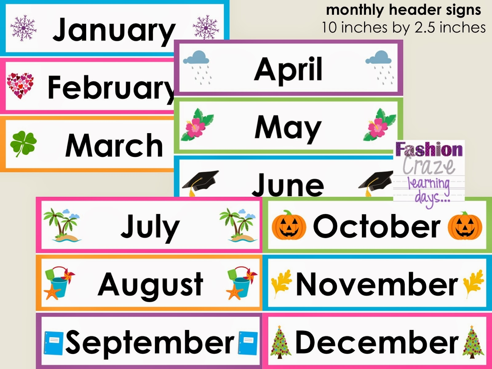 Clipart month names banner freeuse download Calendar Headings Clipart Names Of Months - clipartsgram.com banner freeuse download