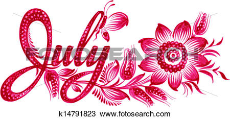 Name clip art vector. Clipart month names