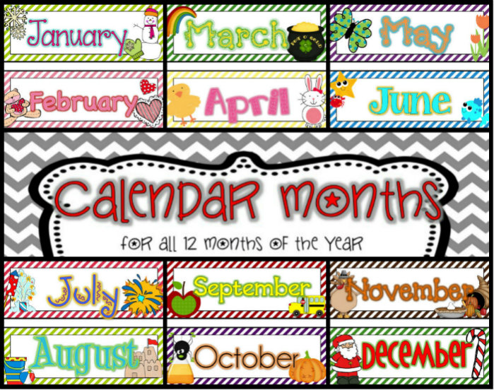 Clipart month names png library Calendar headings clipart names of months - ClipartFox png library