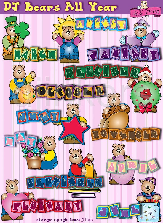 Clipart month names clip art library library Clipart month names - ClipartFest clip art library library