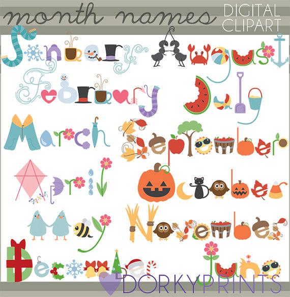 Clipart month names banner Clipart month names - ClipartFest banner