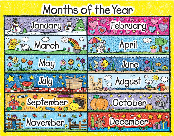 Clipart month of the year picture transparent stock Months Of The Year Clipart - Clipart Kid picture transparent stock