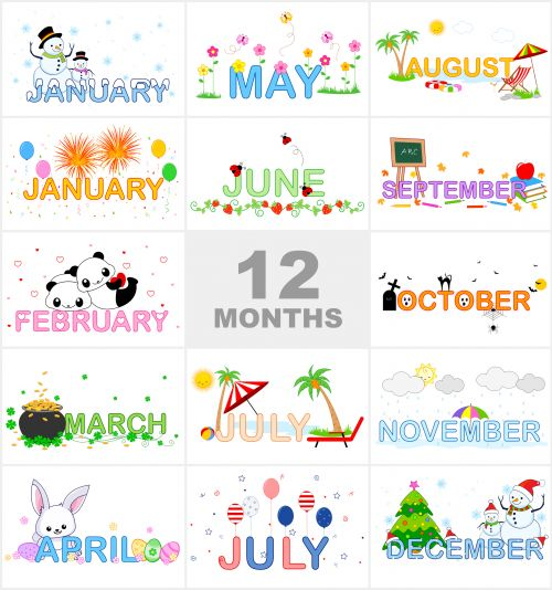 Clipart month of the year png royalty free Months Of The Year Clip Art & Months Of The Year Clip Art Clip Art ... png royalty free