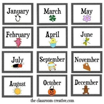 Clipart month of the year jpg library download Months Of The Year Clipart - Clipart Kid jpg library download