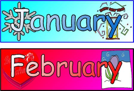 Clipart month of the year graphic Clip Art Months Of The Year Clipart - Clipart Kid graphic
