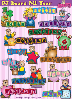 Clipart month of the year svg free download All year long monthly clipart - ClipartFest svg free download