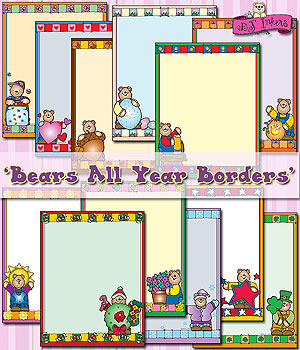 Clipart month of the year clipart royalty free library Cute clip art borders for every month of the year. -DJ Inkers - DJ ... clipart royalty free library