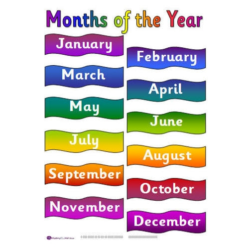 Clipart month of the year clipart black and white stock Clip Art Months Of The Year Clipart - Clipart Kid clipart black and white stock