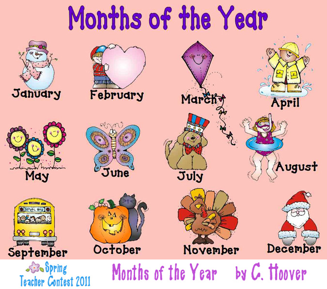 Clipart month of the year vector library Free clipart months of the year - ClipartFest vector library