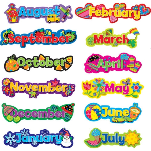 Clipart month of the year svg library download Clip Art For Each Month Of The Year Clipart - Clipart Kid svg library download