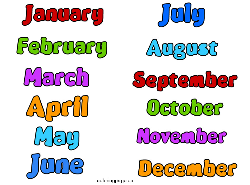 Clipart month of the year graphic royalty free stock Clipart month of the year - ClipartFest graphic royalty free stock