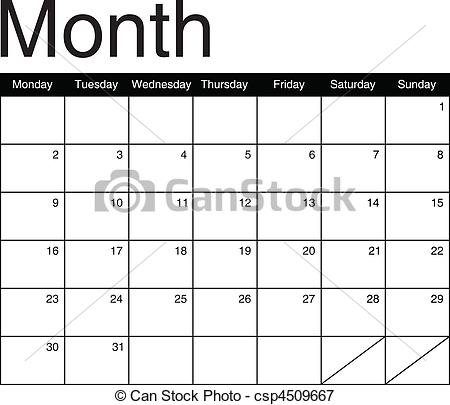 Kid vector basis for. Clipart monthly calendar