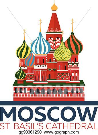 Clipart mosco image freeuse library Vector Illustration - Moscow. russia. st. basil\'s cathedral. EPS ... image freeuse library
