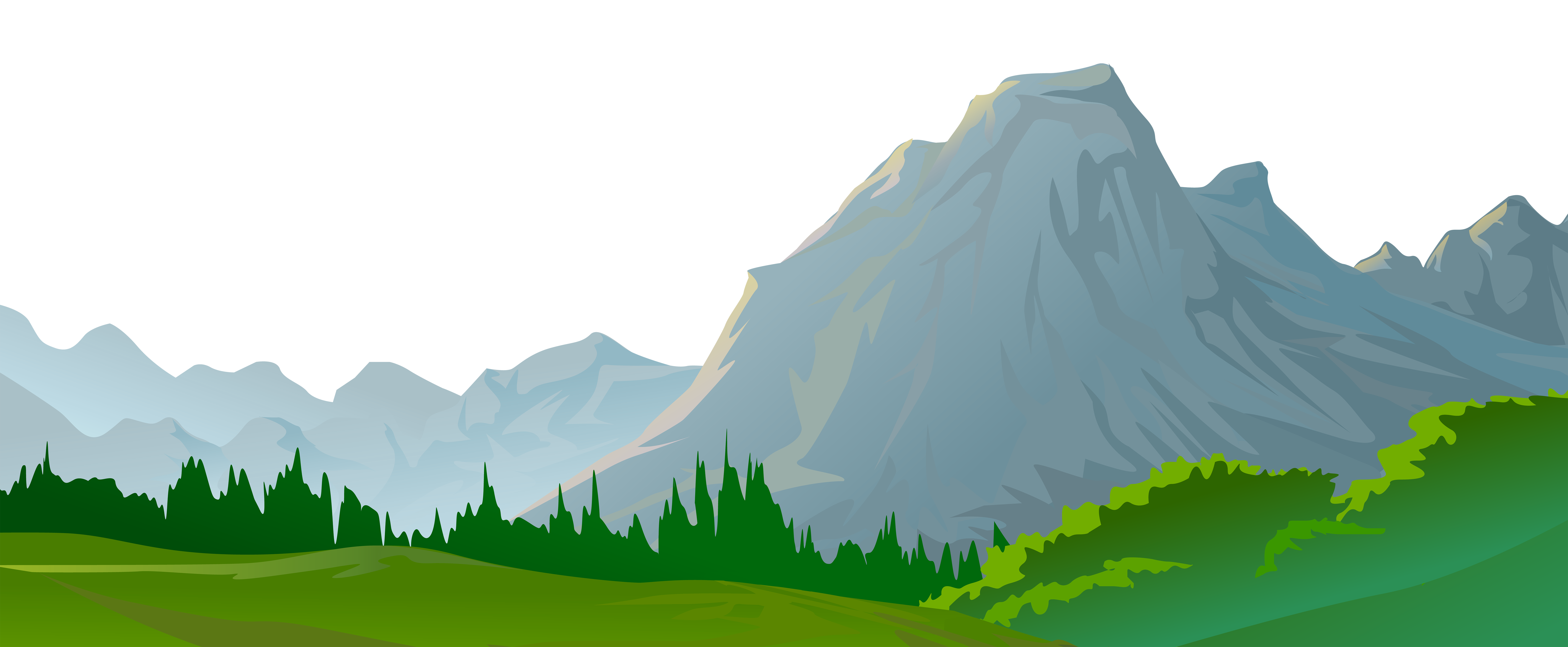 Mountain and tree clipart png free stock Mountain Ground Decorative Transparent Image | Gallery Yopriceville ... png free stock
