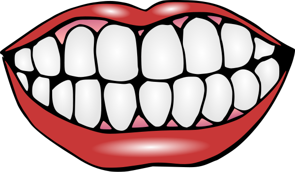 Clipart smile with teeth
