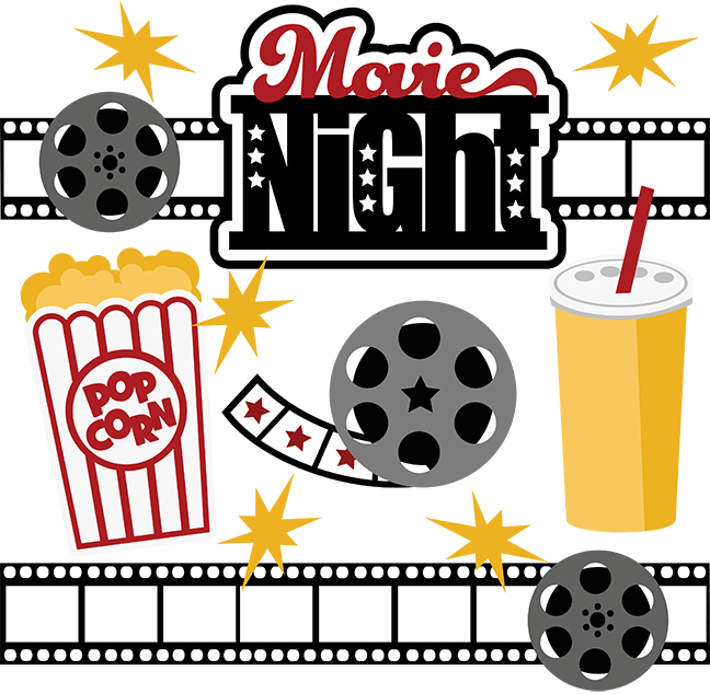 Clipart movie night freeuse library Movie Night SVG Collection svg files for scrapbooking free svg files ... freeuse library