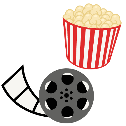 Clipart movie files png library stock Popcorn Movie Reel Movie Night SVG scrapbook cut file cute clipart ... png library stock