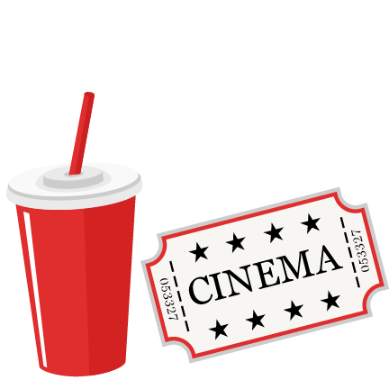 Clipart movie files jpg transparent stock Movie Ticket and Soda SVG scrapbook cut file cute clipart files for ... jpg transparent stock