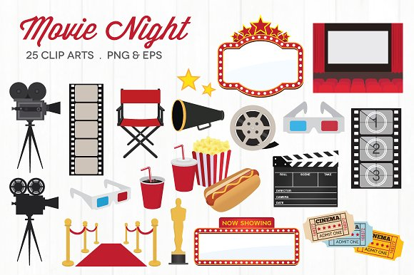 Clipart movie night clip art royalty free library 33+ Movie Night Clipart | ClipartLook clip art royalty free library
