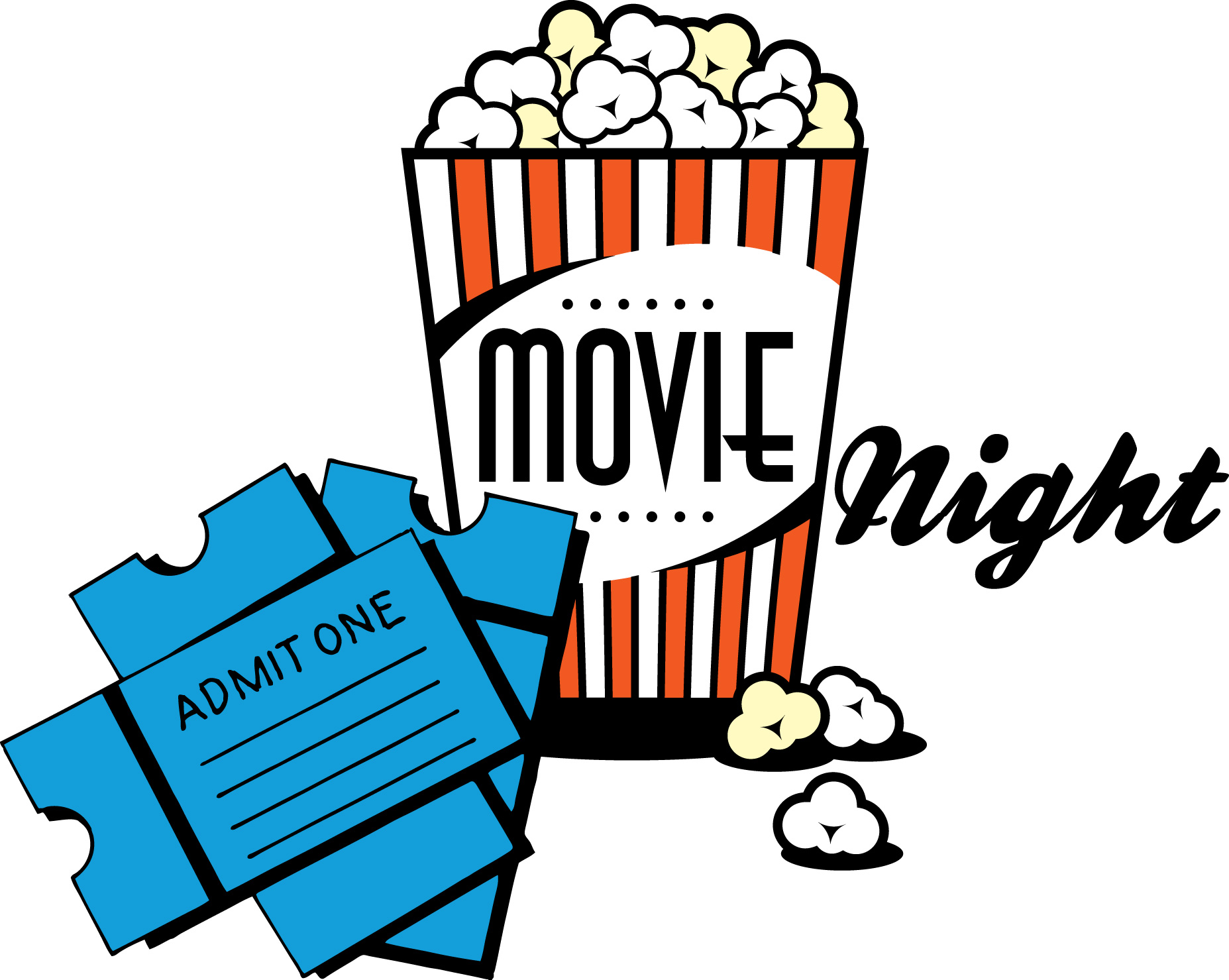 Clipart movie night banner royalty free library Free Movie Night Cliparts, Download Free Clip Art, Free Clip Art on ... banner royalty free library