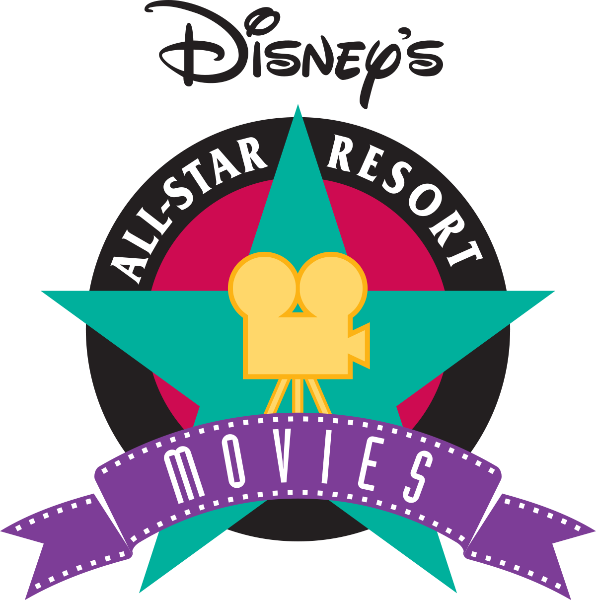 Clipart movie star banner transparent Disney's All-Star Movies Resort - Wikipedia banner transparent
