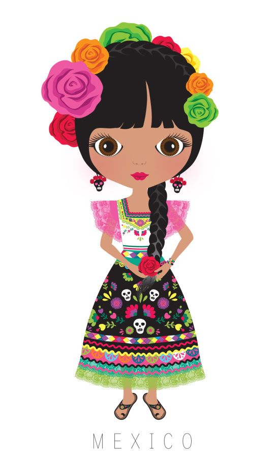 Clipart munecas svg freeuse library MUÑECAS DEL MUNDO | Mexicans, Clip art and Dolls svg freeuse library