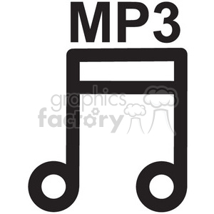 Mp3 clipart png library download mp3 music file vector icon . Royalty-free icon # 398701 png library download