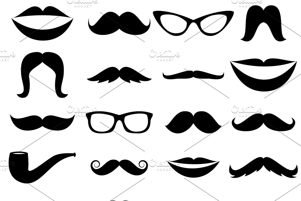 Clipart mustahce picture black and white stock Mustaches Vectors and Clipart picture black and white stock