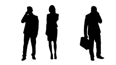 Clipart mutiple people talking svg stock Multiple Silhouettes Of Busy Business People Talking On Phones ... svg stock
