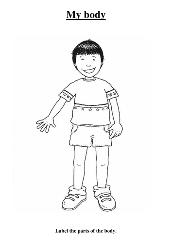 Clipart my body black and white clipart black and white library My body | Primary: Science | Teaching resources, Science resources ... clipart black and white library