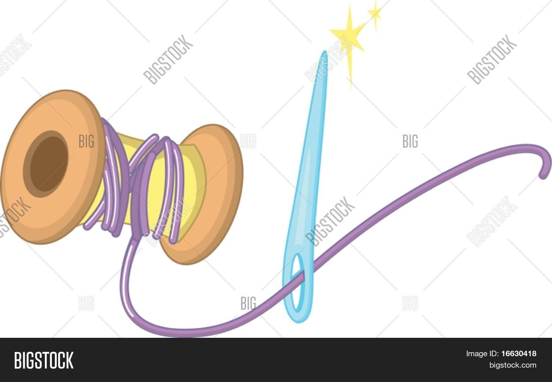 "Clipart nadel und faden vector transparent ClipArt-Stil-Cartoon von Nadel und Faden"" Stock-Vektorgrafiken ... vector transparent"