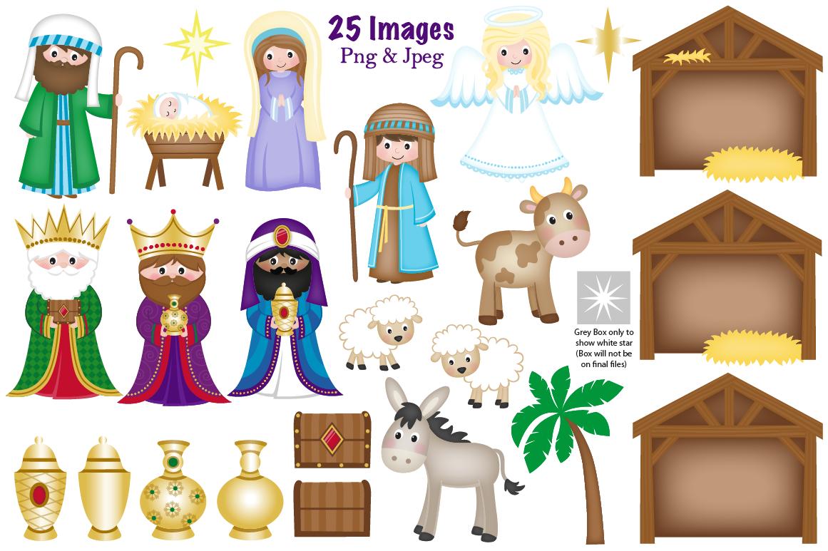 Clipart nativity scene clipart library library Christmas Nativity clipart, Nativity scene graphics & illustrations ... clipart library library