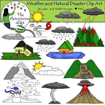 Clipart natural disaster clip transparent Weather and Natural Disasters Clip Art clip transparent