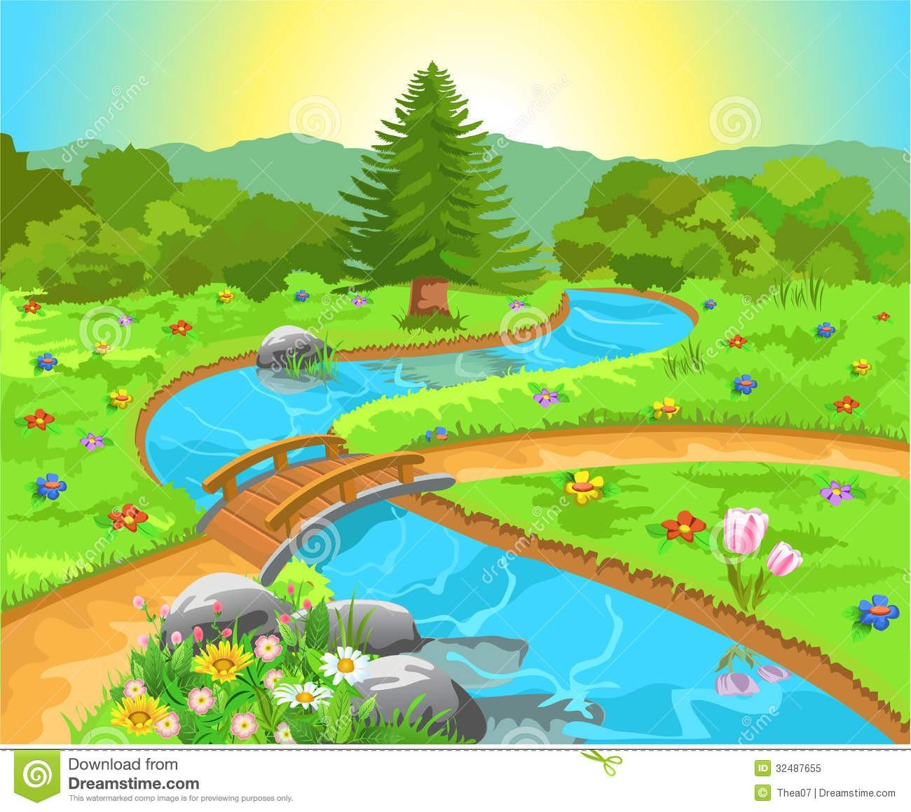 Clipart nature scenes clip In Clipart Of Nature Spring Scenes 1 | Clip Art clip