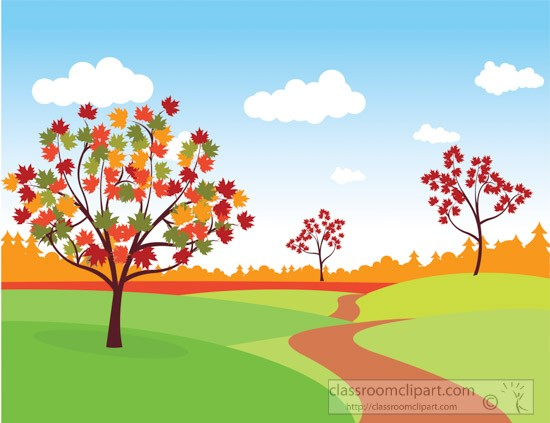 Clipart nature scenes clipart black and white library Fall Scene Clipart | salaharness.org clipart black and white library