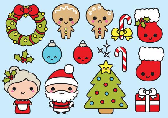 Clipart navidad freeuse stock Premium Vector Clipart - Navidad de Kawaii - Clipart de Navidad ... freeuse stock
