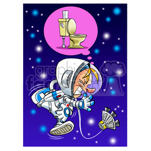 Clipart needs to go to the bathroom clip royalty free stock astronaut has to go to the bathroom clipart. Royalty-free clipart # 394257 clip royalty free stock