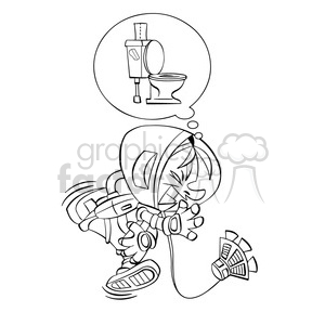 Clipart needs to go to the bathroom clip art freeuse library astronaut has to go to the bathroom in black and white clipart.  Royalty-free clipart # 394249 clip art freeuse library