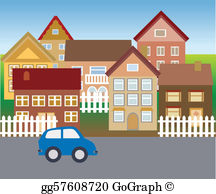 Neighborhood images clipart clipart transparent stock Neighborhood Clip Art - Royalty Free - GoGraph clipart transparent stock
